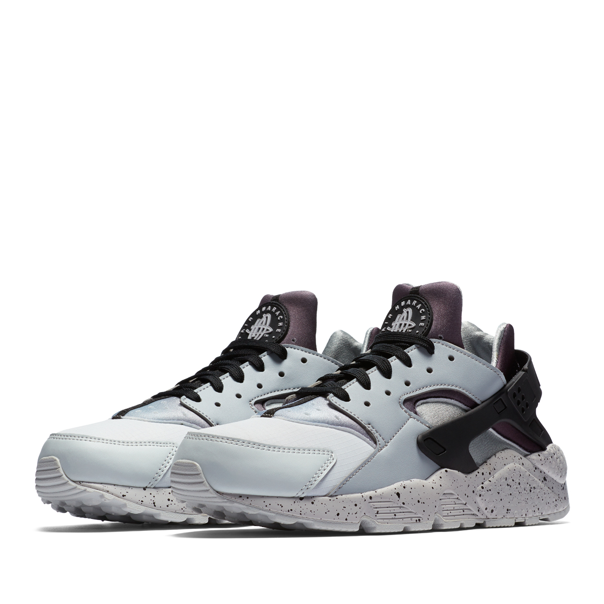 RUNNING NIKE AIR HUARACHE Wolf Grey Pure Platinum Black White