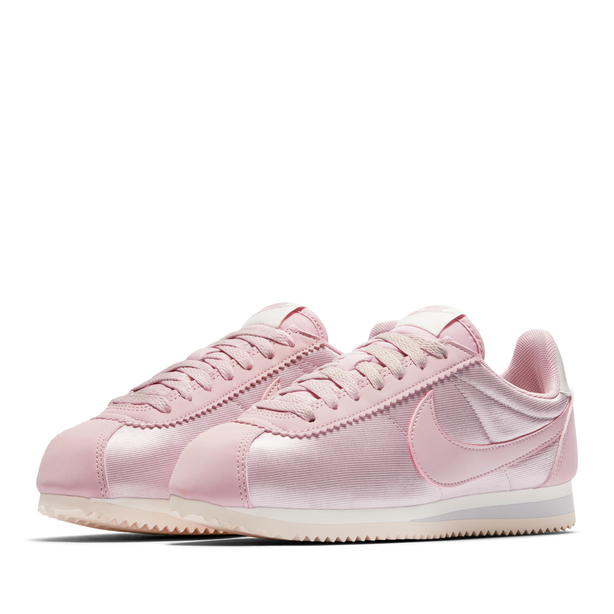 f2ccebc4e834 NIKE WMNS CLASSIC CORTEZ NYLON (ナイキウィメンズクラシックコルテッツナイロン) PARTICLE ROSE PARTICLE  ROSE-VAST GREY 18SP-I