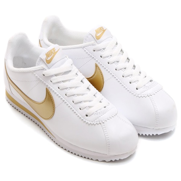 womens nike cortez gold blue