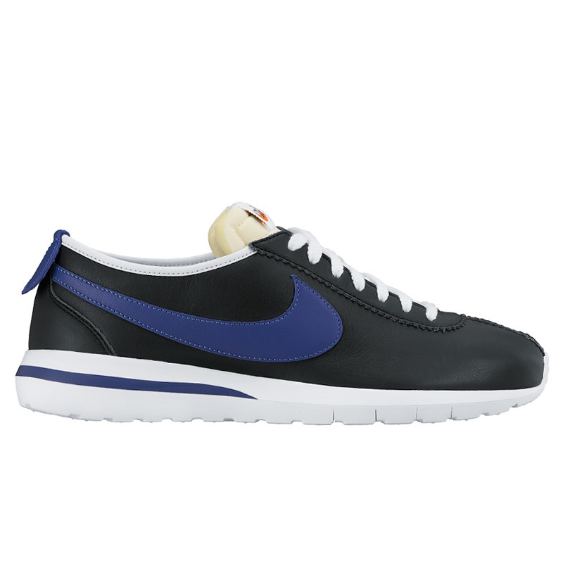 d80ec642eb8a ... amazon nike roshe cortez nm ltr nm nike ros cortez leather black deep  royal blue safty