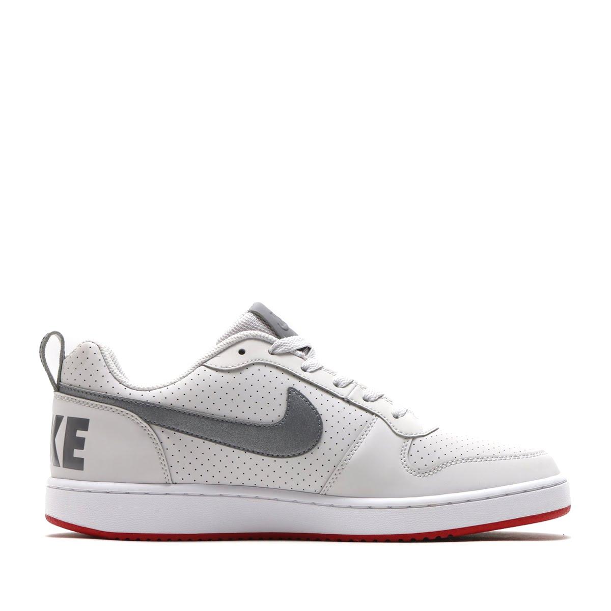cdb287206435 NIKE COURT BOROUGH LOW SL (Nike coat Barlow low SL) VAST GREY MTLC COOL GREY -GYM RED 18SP-I