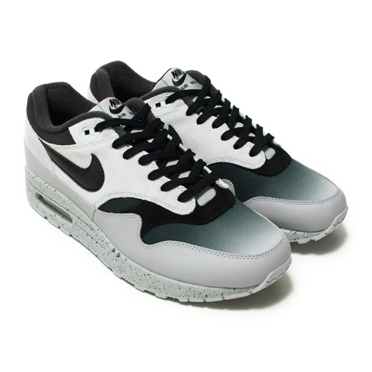 df7ce950cd ★SALE ★ NIKE AIR MAX 1 PREMIUM (Kie Ney AMAX 1 premium) PURE  PLATINUM/BLACK-WOLF GREY-ANTHRACITE 18SP-I
