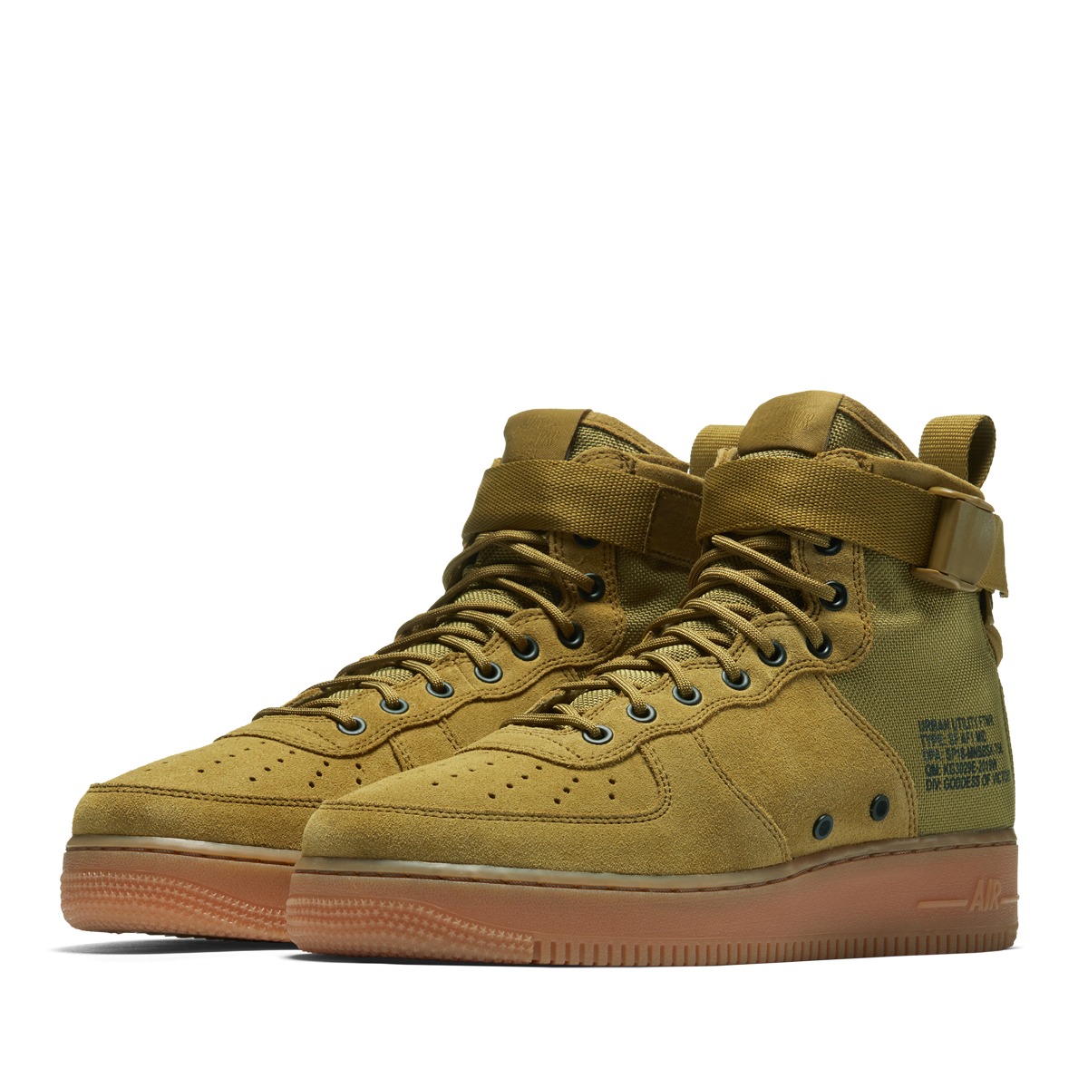 4ebc05b385dba NIKE SF AF1 MID (Nike special field air force 1 mid) DESERT MOSS DESERT MOSS-GUM  MED BROWN 18SP-I
