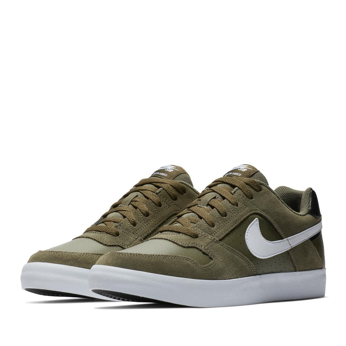 ★SALE ★ NIKE SB DELTA FORCE VULC (Nike SB デルタフォースヴァルク) MEDIUM  OLIVE/WHITE-BLACK-WHITE 18SP-I