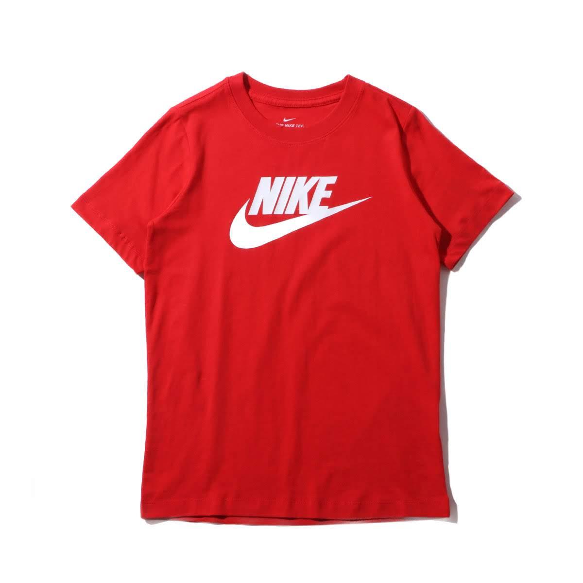 51c150f724a NIKE B NSW TEE FUTURA ICON TD (ナイキ YTH フューチュラ アイコン TD Tシャツ) UNIVERSITY RED  WHITE  キッズ Tシャツ