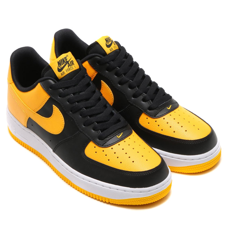 NIKE AIR FORCE 1 (나이키에 어 포스 1) BLACK/UNIVERSITY GOLD-WHITE 16SU-I