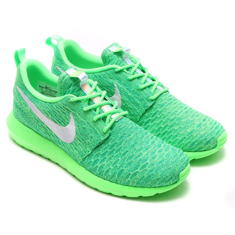 381de9245e5d NIKE ROSHE NM FLYKNIT (Nike Ros NM Flint) VOLTAGE GREEN WHITE-LUCID GREEN  16FA-I