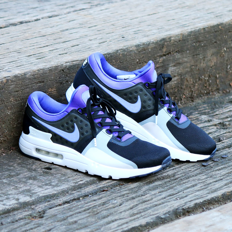 d5a42f746254 Marathon time store all points up to 20 times! NIKE AIR MAX ZERO QS (Nike  Air Max zero QS) BLACK PERSIAN VIOLET-WHITE 16FA-S