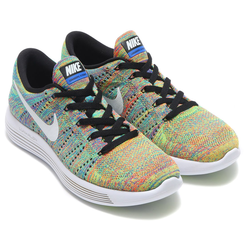 1827858e5eb5 Marathon time store all points up to 20 times! NIKE LUNAR EPIC LOW FLYKNIT (Nike  Lunar epic row Flint) BLACK WHITE-RACER BLUE-TOTAL CRIMSON-VOLT 16FA-I