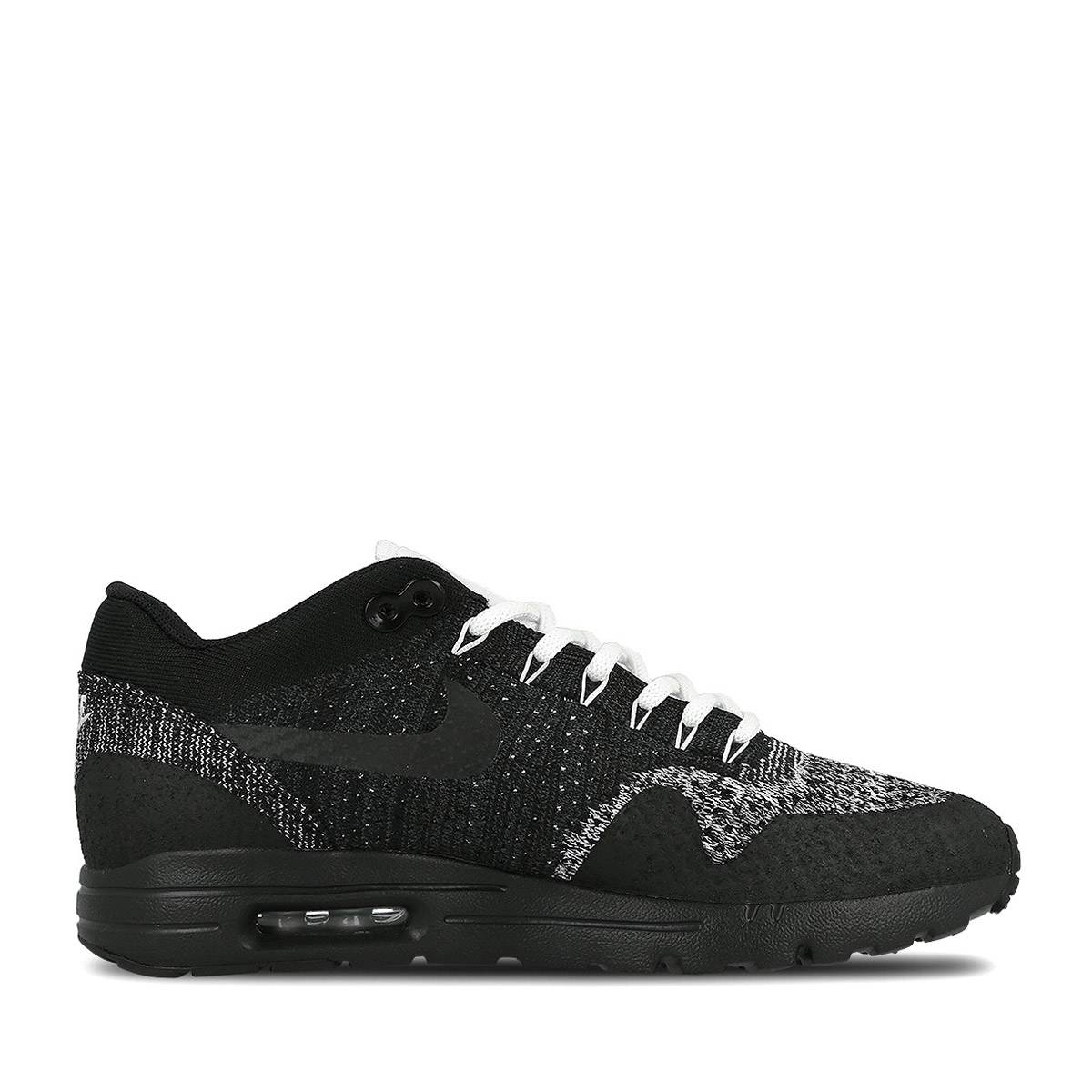 8110fad1807b NIKE WMNS AIR MAX 1 ULTRA FLYKNIT (Nike wmns Air Max 1 ultra Flint) BLACK  ANTHRACITE-WHITE 16HO-I