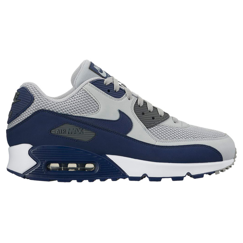 NIKE AIR MAX 90 ESSENTIAL (Nike Air Max 90 essential) (WOLF GRE/BINAR BLUE-DAR GRE-WHITE) 17 SP-I
