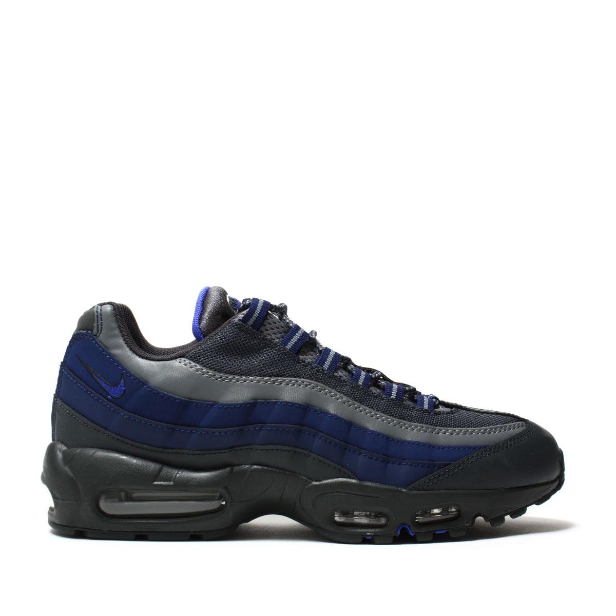 NIKE AIR MAX 95 ESSENTIAL (Nike Air Max 95 essential) (ANTHRACITE/PARAMOUNT BLUE-BINARY BLUE-COOL GREY-WOLF GREY) 17 SP-I