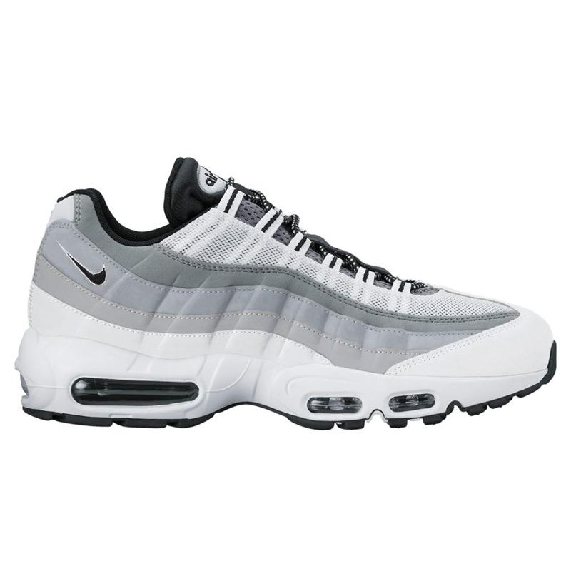 NIKE AIR MAX 95 ESSENTIAL (Nike Air Max 95 essential) (WHITE/BLACK-WOLF GREY-COOL GREY) 17 SP-I