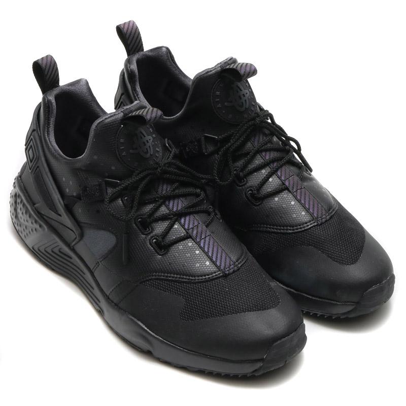 5d7905723b84 NIKE AIR HUARACHE UTILITY PRM (Nike Air halti utility premium)  BLACK ANTHRACITE-ANTHRACITE) 16 HO-I