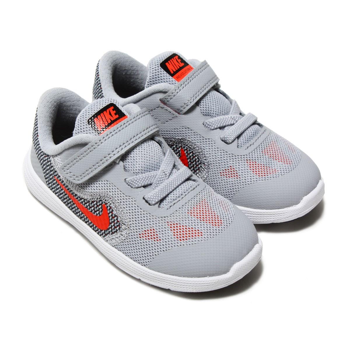 bb7c3c3233d8 NIKE REVOLUTION 3 (TDV) (Nike revolution 3 TDV) WOLF GREY MAX ORANGE-BLACK- WHITE 18SP-I