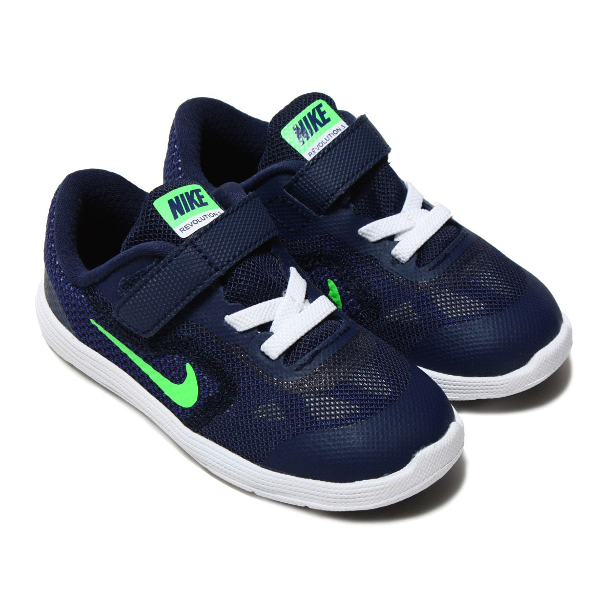 nike revolution 3 blue and green