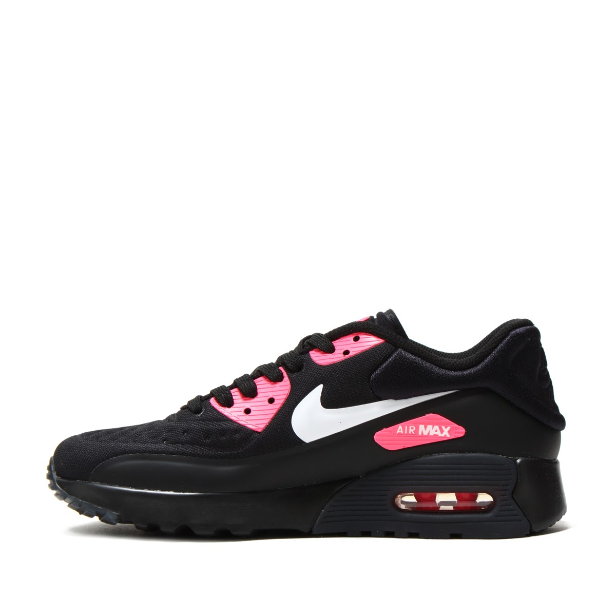 Nike Air Max 90 Ultra SE (GS) Black White Hyper Pink | Footshop