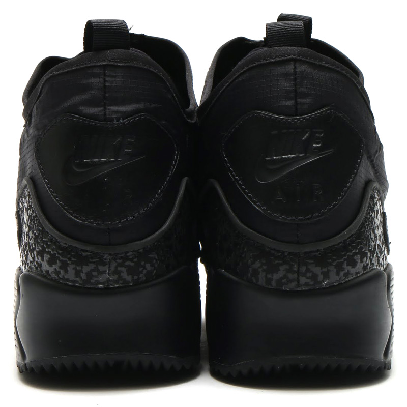 NIKE AIR MAX 90 UTILITY (Nike Air Max 90 utilities) (BLACK BLACK-BLACK-DARK  GREY) 16 HO-I a37c657f8