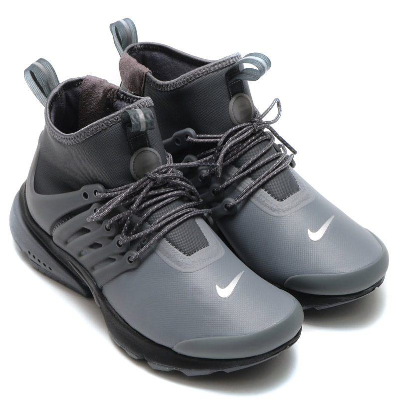 innovative design 52b83 65d5f Nike Womens air Presto mid utility, arrange the iconic shoes for winter.  Adopt water resistant stretch synthetic textile upper.