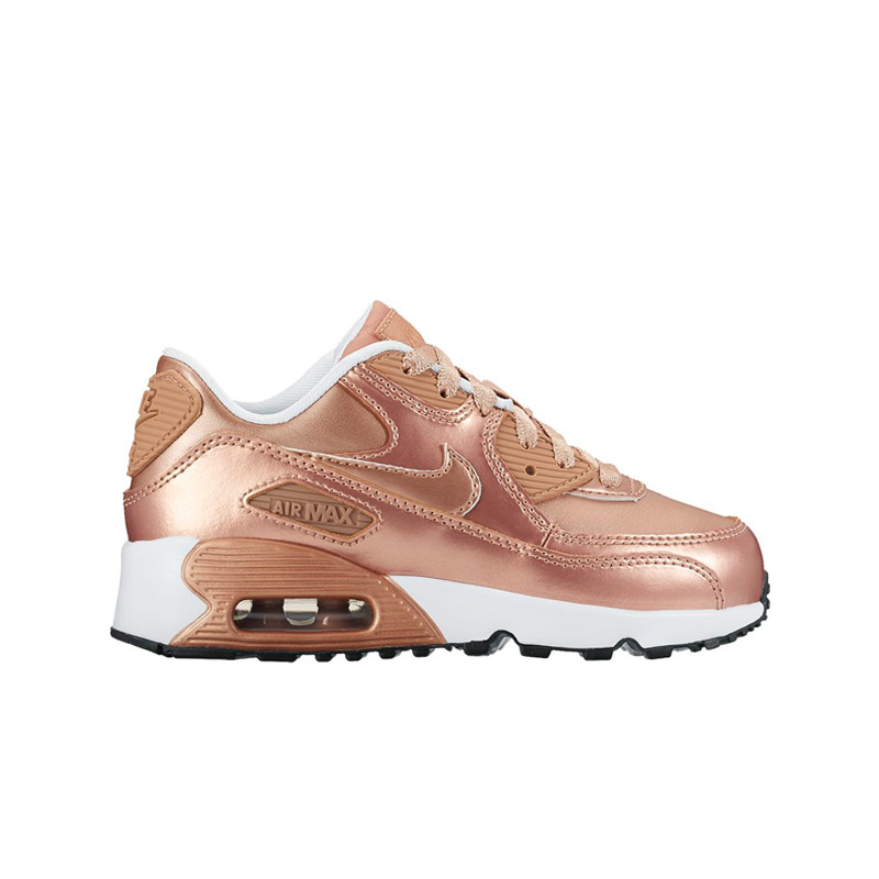 NIKE AIR MAX 90 SE LTR PS (Nike Air Max 90 SE leather PS) METALLIC RED  BRONZE/METALLIC RED BRONZE 16HO-I
