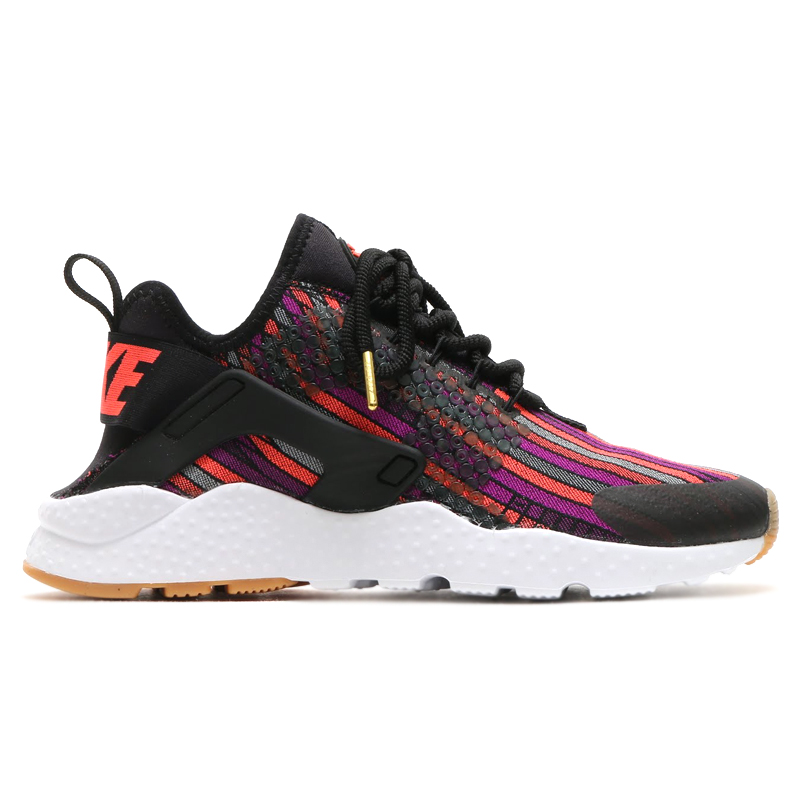 e1bc6712ffc7 NIKE WMNS AIR HUARACHE RUN ULTRA JCD PRM (Nike wmns air halti run ultra  premium Jacquard) (BLACK HOT LAVA-GUM YELLOW-WHITE) 16 HO-I