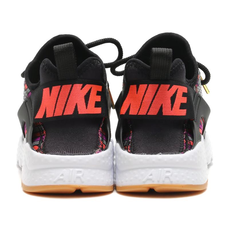 ac76e1dec8d4 NIKE WMNS AIR HUARACHE RUN ULTRA JCD PRM (Nike wmns air halti run ultra  premium Jacquard) (BLACK HOT LAVA-GUM YELLOW-WHITE) 16 HO-I