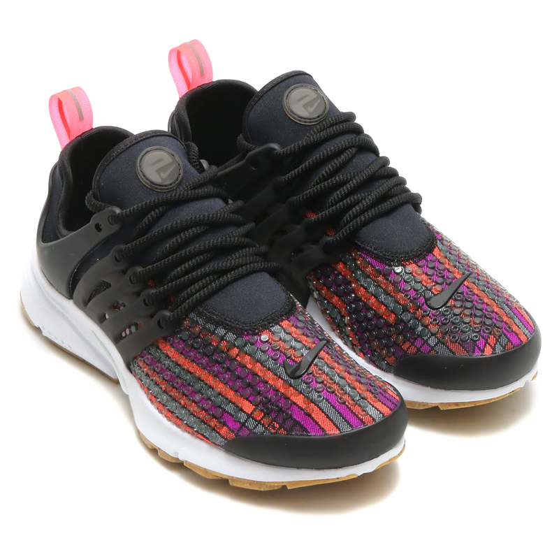 NIKE WMNS AIR PRESTO JCRD PRM (Nike Womens air Presto Jacquard premium) ( BLACK/HOT LAVA-GUM YELLOW-WHITE) 16 HO-I