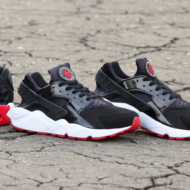 red black and white huaraches