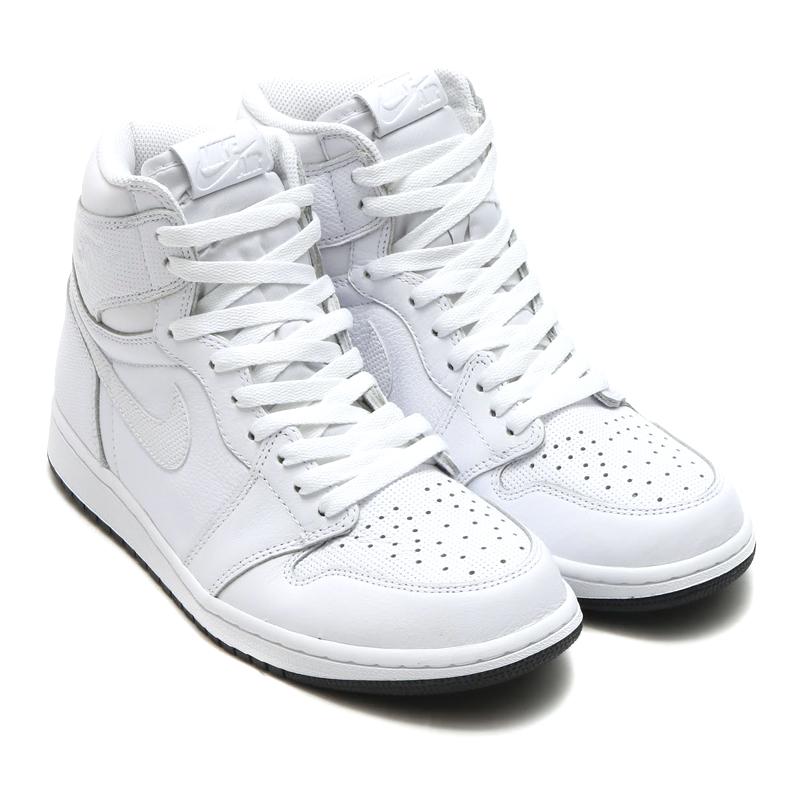 990100ef97e4b NIKE AIR JORDAN 1 RETRO HIGH OG (Nike Air Jordan 1 nostalgic high OG) (WHITE  BLACK-WHITE) 16HO-I