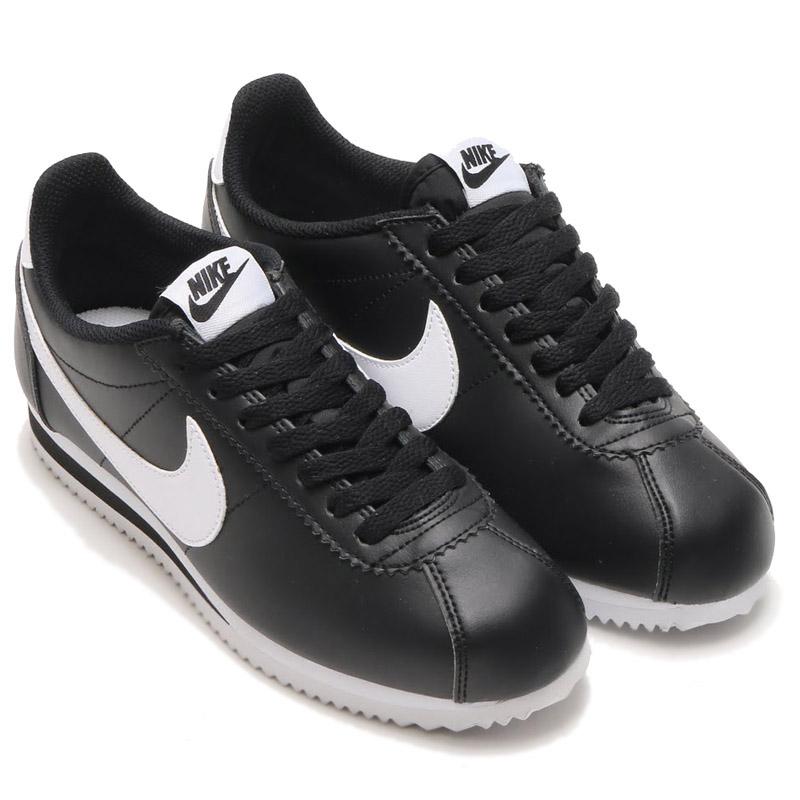 906e18499ca1 NIKE WMNS CLASSIC CORTEZ LEATHER (Cortez Nike womens classic leather) BLACK  WHITE-WHITE 16HO-I
