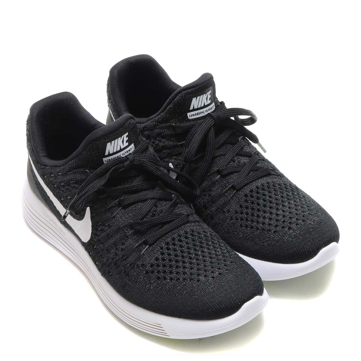 0f4682027adb6 NIKE W LUNAREPIC LOW FLYKNIT 2 (Nike women luna epic loaf rye knit 2) (BLACK  WHITE-ANTHRACITE) 17SP-S