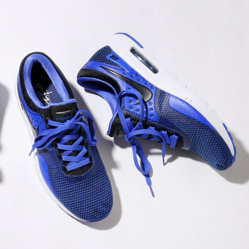 outlet store 488ef 2d0c7 NIKE AIR MAX ZERO ESSENTIAL (Kie Ney AMAX zero essential) (BLACK BLACK-PARAMOUNT  BLUE-BINARY BLUE-WHITE)