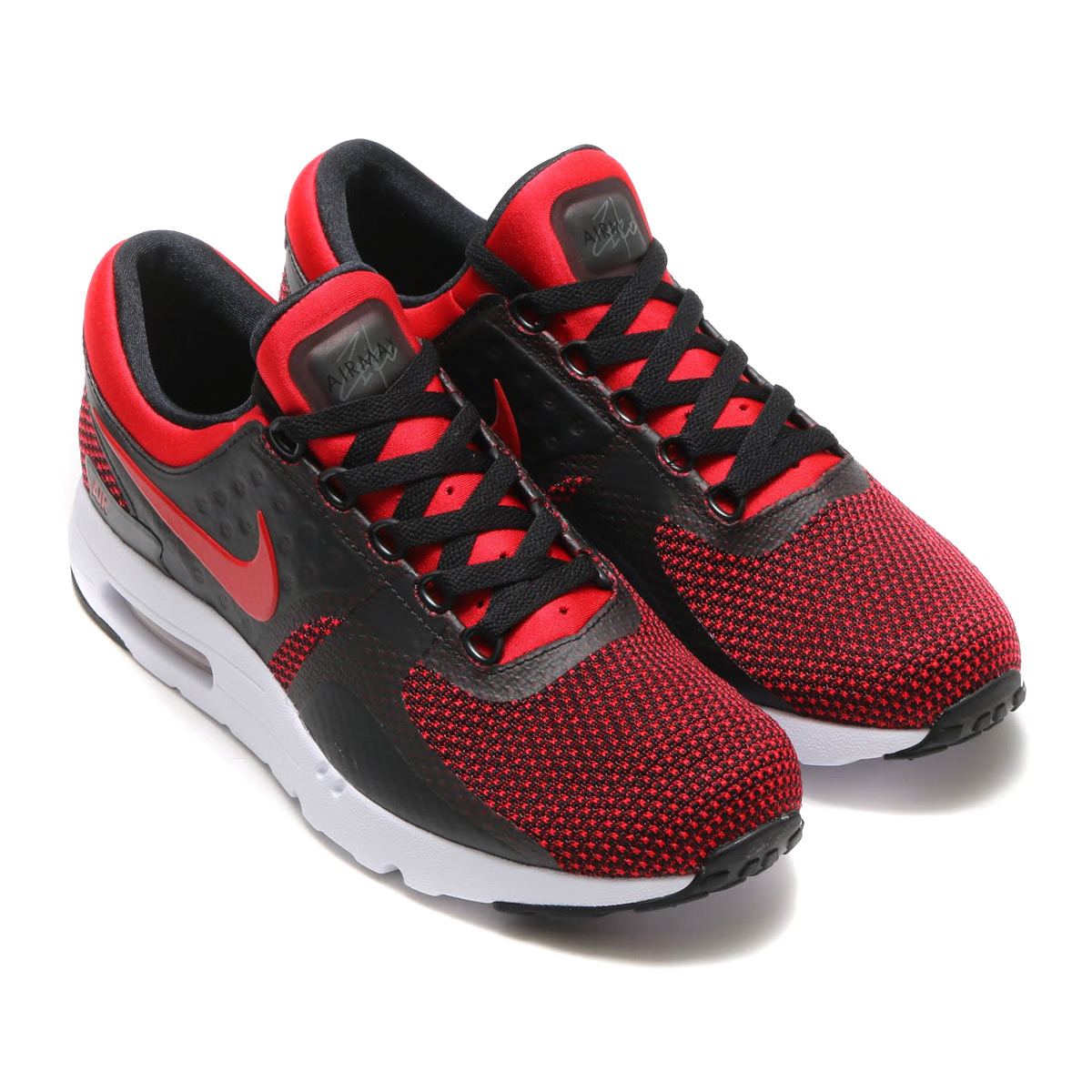 detailed look ed491 546ca NIKE AIR MAX ZERO ESSENTIAL (Kie Ney AMAX zero essential) (UNIV RED UNIV  RED-BLACK-TEAM RED)