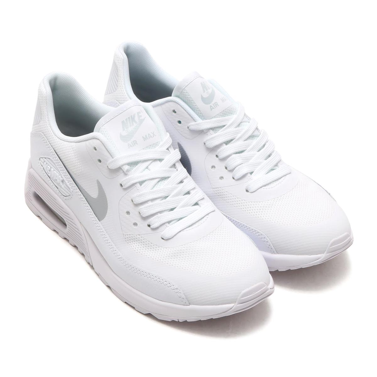 NIKE W AIR MAX 90 ULTRA 2.0 (Nike women Air Max 90 ultra 2.0) (WHITE MTLC  PLATINUM-WHITE-BLACK) 17SP-I 493ab24a98