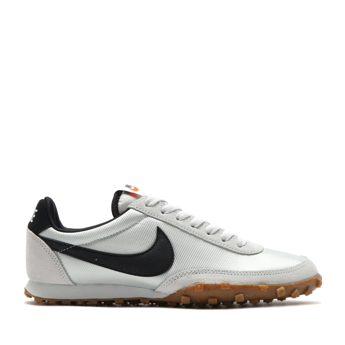 NIKE W WAFFLE RACER (나이키 womens 와플 레이서) (OFF WHITE/BLACK-SAFETY ORANGE-GUM MED BROWN) 17 SP-I