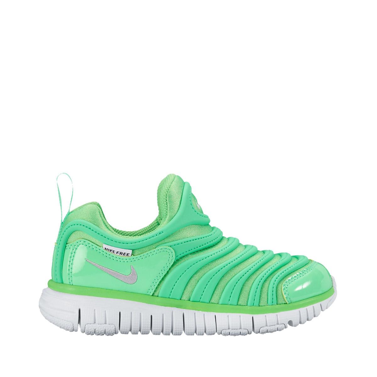 wholesale dealer a687b 0b126 Nike Dynamo Free Infant Toddler Kids Shoe NIKE DYNAMO FREE PS (Nike dynamo-free  PS) RAGE GREEN METALLIC SILVER- ...