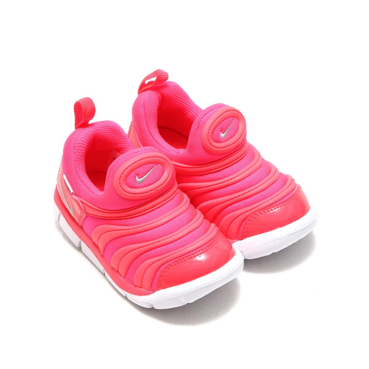 new style 83f3b 1b108 NIKE DYNAMO FREE (TD) (Nike dynamo-free TD) (RACER PINK METALLIC SILVER-HOT  PUNCH) 17SU-I