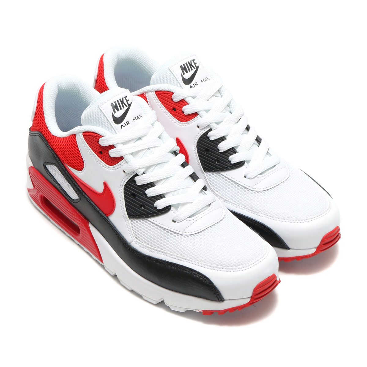 nike air max 90 white black university red