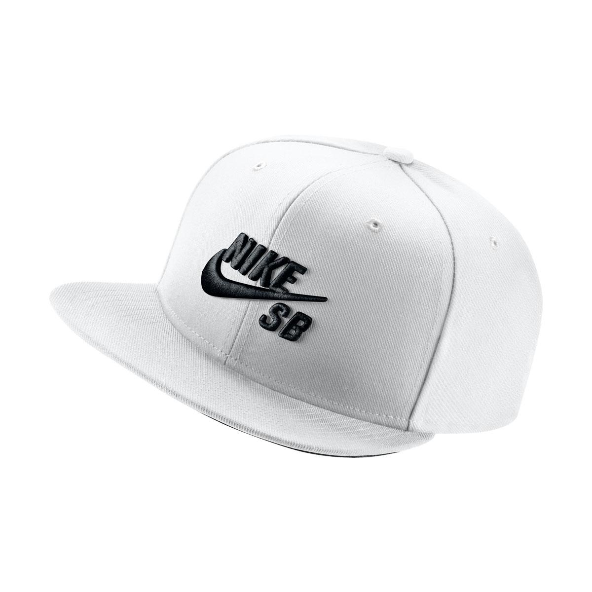 8005f7e56d4 NIKE U NK CAP PRO (Nike SB icon snapback) (WHITE BLACK WHITE BLACK) 17SU-I