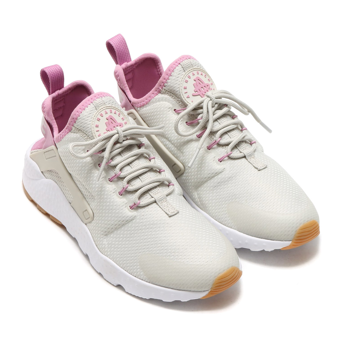 d043ed614ae5 NIKE WMNS AIR HUARACHE RUN ULTRA (ナイキウィメンズエアハラチランウルトラ) LIGHT BONE ORCHID-GUM  YELLOW-WHITE 17SU-I