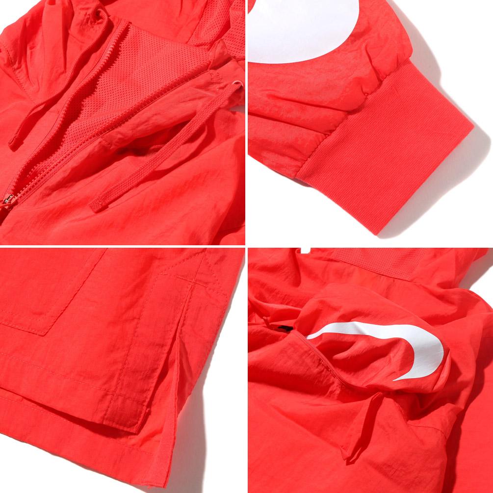 NIKE AS M NSW JKT HD WVN PKBL (ナイキウーブンパッカブルフーディジャケット) (TRACK RED/WHITE) 17SU-I