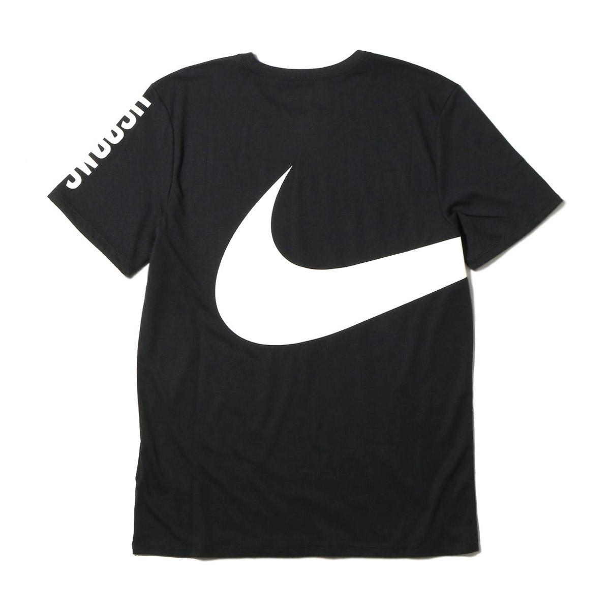 NIKE AS M NK DRY TEE DB LOGO SWOOSH (나이키드라이핏트드라이드라이브렌드로고스웃슈 T셔츠) (BLACK/WHITE) 17 SU-I