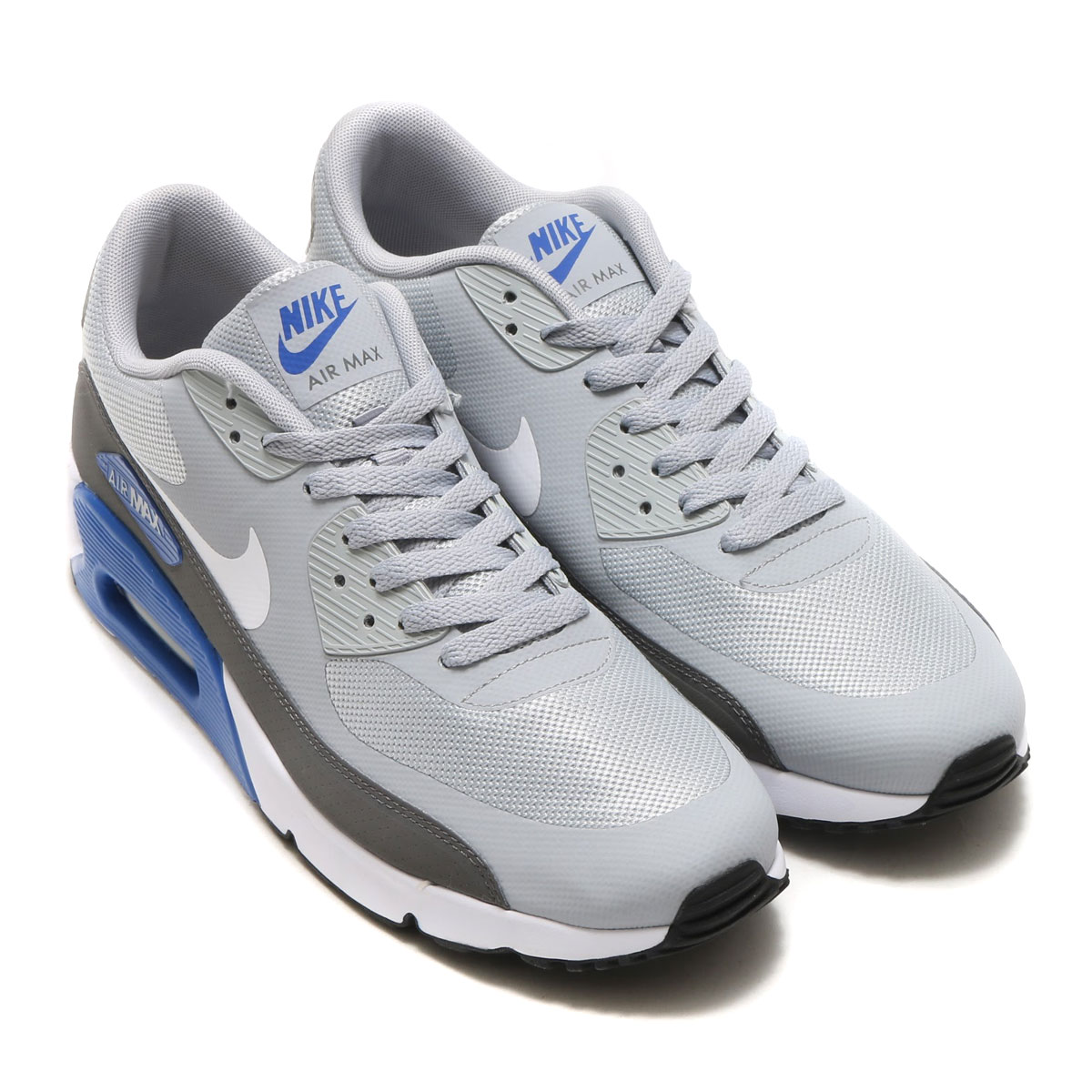 b8d402e170 NIKE AIR MAX 90 ULTRA 2.0 ESSENTIAL (Kie Ney AMAX 90 ultra 2.0 essential)  WOLF GREY WHITE-DARK GREY-GAME ROYAL  men gap Dis sneakers  17SU-I