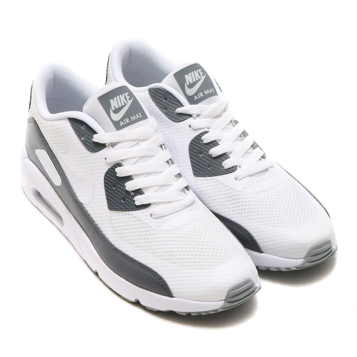 a53f0b5d28e NIKE AIR MAX 90 ULTRA 2.0 ESSENTIAL (Kie Ney AMAX 90 ultra 2.0 essential)  WHITE WHITE-COOL GREY-WOLF GREY  men gap Dis sneakers  17SU-I
