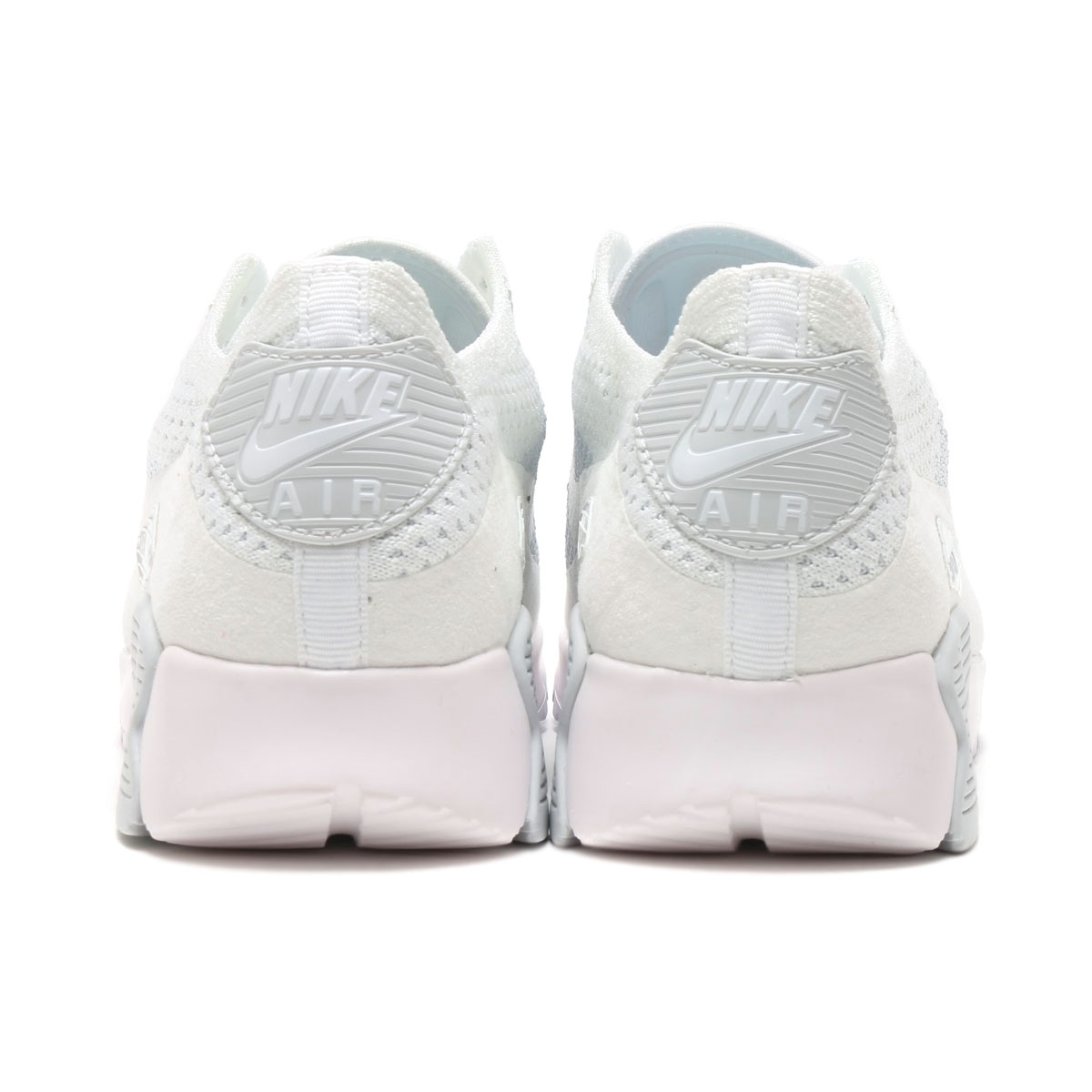 size 40 ebf6a f13a5 NIKE WMNS AIR MAX 90 ULTRA 2.0 FLYKNIT (Nike women Air Max 90 ultra 2.0 fly  knit) WHITE WHITE-PURE PLATINUM  lady s sneakers  17SU-I