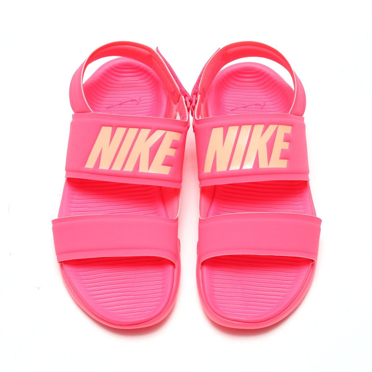 NIKE WMNS TANJUN SANDAL (Nike women tongue Jun sandals) RACER PINK SUNSET  GLOW 17SU-I 6a8a6e6cd