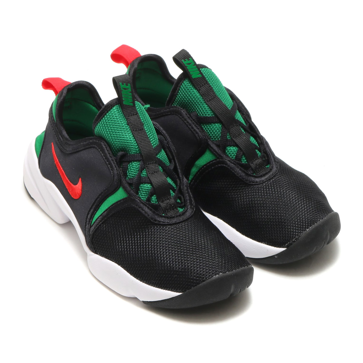 Using mesh and a neoprene material superior in breathability, the soft form  and rubber pod image Nike airlift shoes.