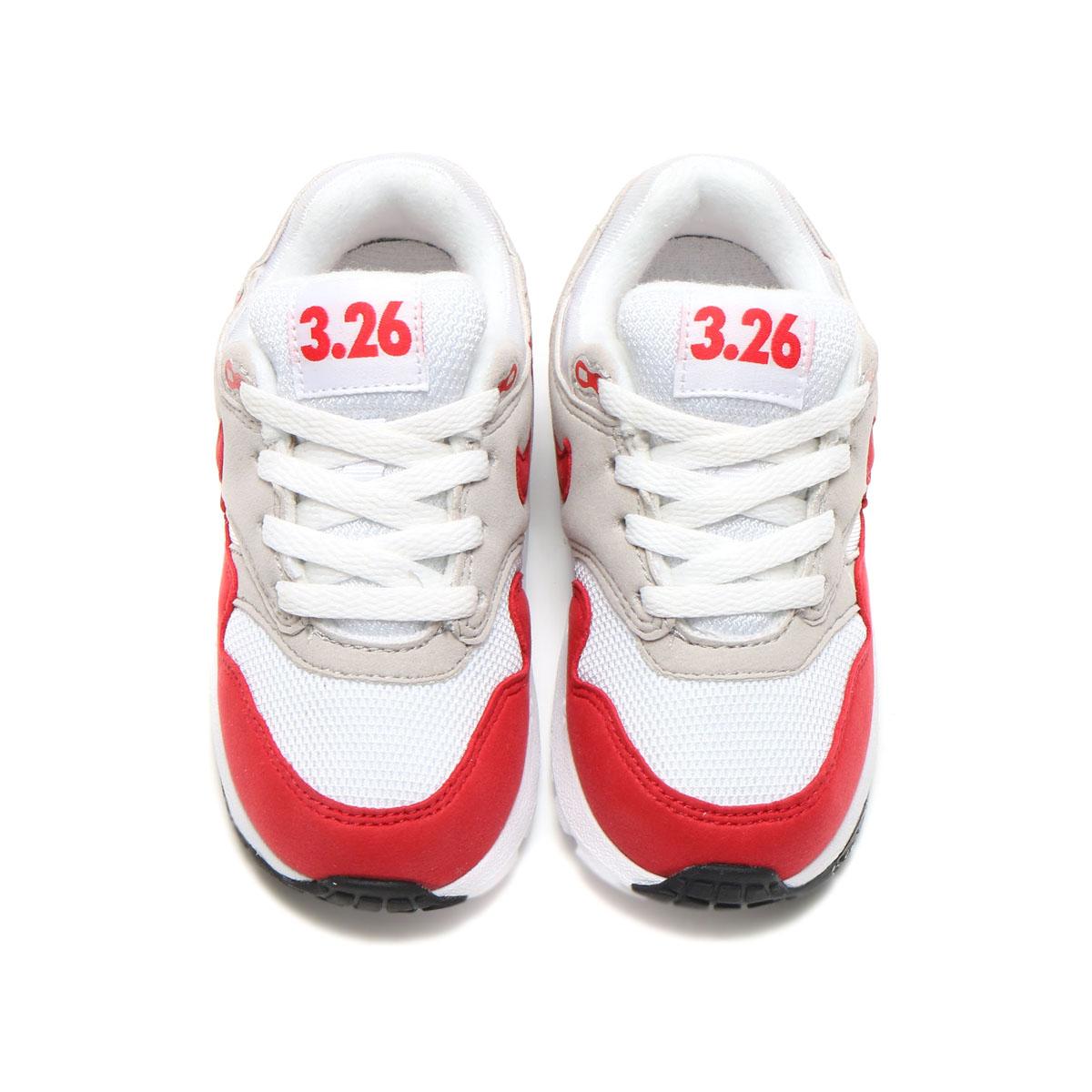 NIKE AIR MAX 1 QS (TD) (나이키 에어 막스 1 QS TD) (WHITE/UNIVERSITY RED-NEUTRAL GREY-BLACK) 17 SU-S