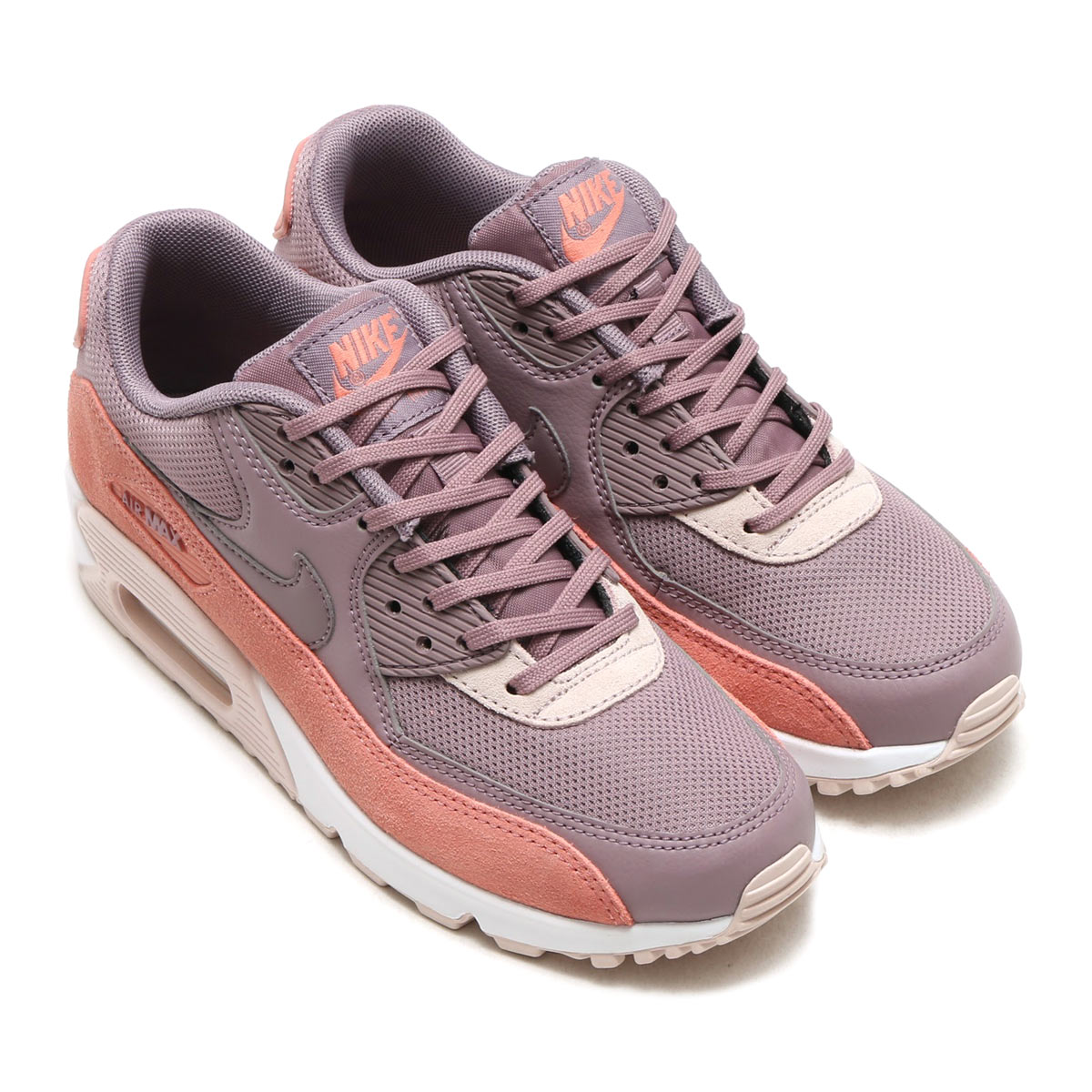 NIKE WMNS AIR MAX 90 (나이키 womens 에어 막스 90) (RED STARDUST/TAUPE GREY-SILT RED-WHITE) 17 FA-S