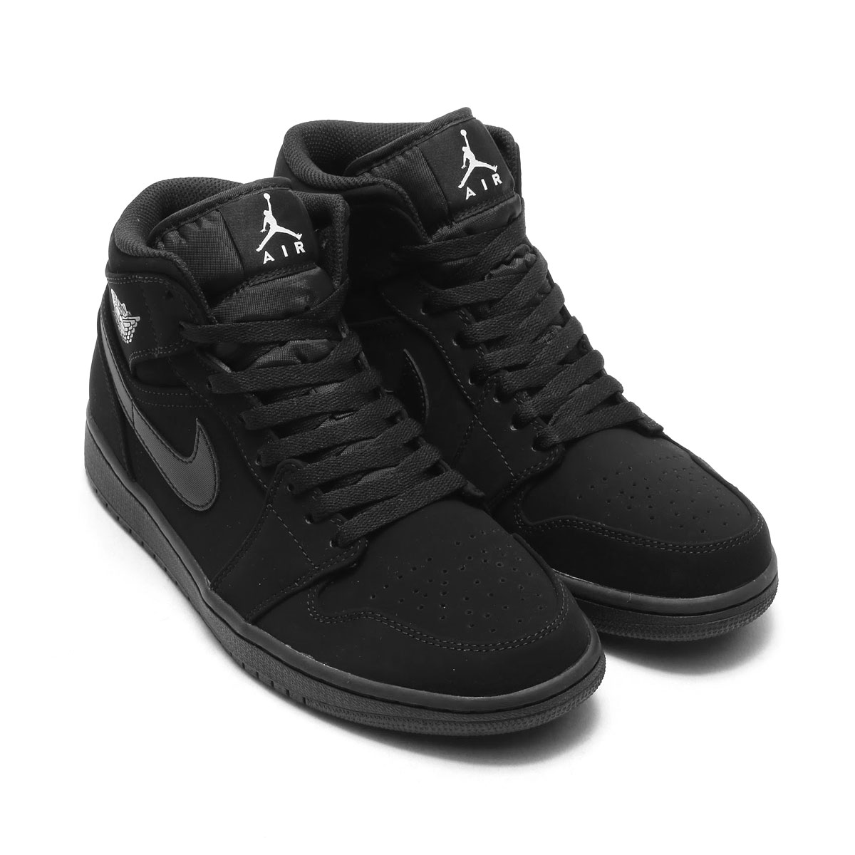 atmos pink  NIKE AIR JORDAN 1 MID (Nike Air Jordan 1 mid) (BLACK WHITE-BLACK)  17FA-I  b905c73040d8